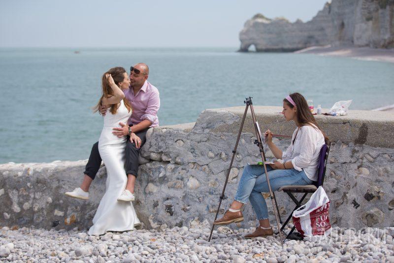 Сесия след сватбата на Камен и Олена в Англия и Франция