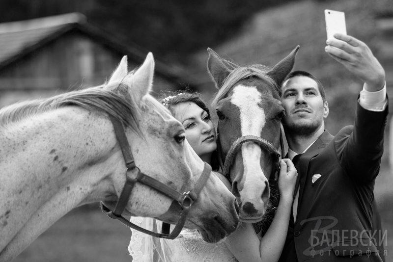 В сватбения ден – сесия с коне